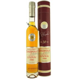 Коньяк Chateau de Fontpinot Millesime (20 years old) Grande Champagne, Premier Grand Cru Du Cognac (in box), 350 мл