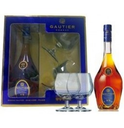 Коньяк Gautier V.S.O.P., gift box with two glasses, 0.7 л