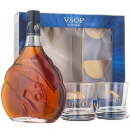 Коньяк Meukow V.S.O.P., gift box with 2 glasses, 0.7 л