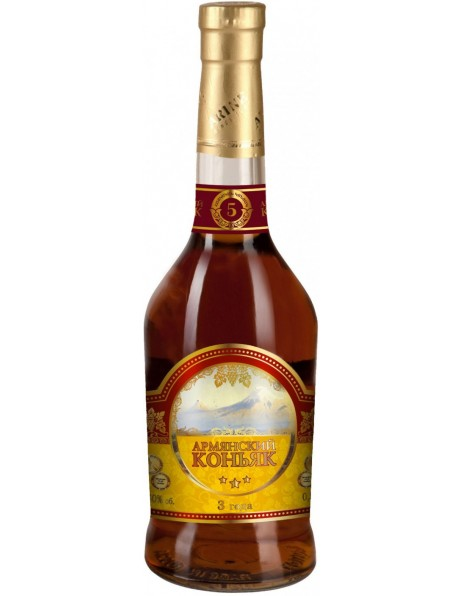 Коньяк Hayasy, Armenian Cognac 3 Years Old, 0.5 л